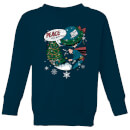 dc-superman-peace-on-earth-kinder-weihnachtspullover-navy-blau-9-10-jahre-marineblau