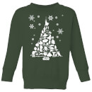 star-wars-character-christmas-tree-kids-christmas-sweatshirt-forest-green-11-12-jahre-forest-green