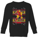 marvel-iron-man-kids-christmas-sweatshirt-black-3-4-jahre-schwarz