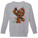 star-wars-tangled-fairy-lights-chewbacca-kids-christmas-sweatshirt-grey-9-10-jahre-grau