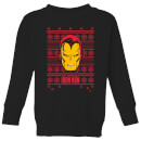 marvel-iron-man-face-kids-christmas-sweatshirt-black-3-4-jahre-schwarz