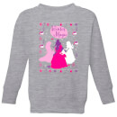 disney-princess-silhouettes-kids-christmas-sweatshirt-grey-7-8-jahre-grau