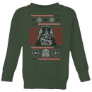 star-wars-darth-vader-face-knit-kids-christmas-sweatshirt-forest-green-7-8-jahre-forest-green
