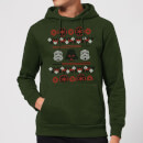 Empire Knit Christmas Hoodie - Forest Green - XL - Forest Green Forest Green XL