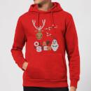 Olaf and Sven Christmas Hoodie - Red - M - Rojo Rojo M