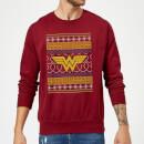 dc-wonder-woman-knit-weihnachtspullover-burgunderrot-s-burgunderrot