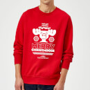national-lampoon-merry-christmoose-christmas-sweatshirt-red-m-rot, 20.49 EUR @ sowaswillichauch-de