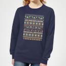 nintendo-super-mario-yoshi-have-a-merry-mario-christmas-women-s-sweatshirt-navy-s-marineblau