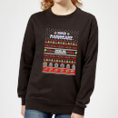 nintendo-mario-kart-here-we-go-women-s-christmas-sweatshirt-black-s-schwarz