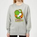 nintendo-super-mario-yoshi-kanji-women-s-sweatshirt-grey-xl-grau, 27.99 EUR @ sowaswillichauch-de
