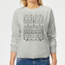 nintendo-super-mario-retro-knit-women-s-christmas-sweatshirt-grey-l-grau