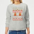 nintendo-super-mario-mario-ho-ho-ho-its-a-me-christmas-women-s-christmas-sweatshirt-grey-xxl-grau