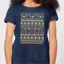 nintendo-super-mario-yoshi-have-a-merry-mario-christmas-women-s-t-shirt-navy-xxl-marineblau