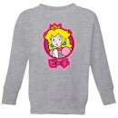 nintendo-super-mario-peach-kanji-kid-s-sweatshirt-grey-3-4-jahre-grau