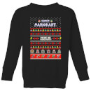 nintendo-mario-kart-here-we-go-kid-s-christmas-sweatshirt-black-3-4-jahre-schwarz
