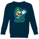 nintendo-super-mario-luigi-kanji-kid-s-sweatshirt-navy-7-8-jahre-marineblau