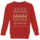 nintendo-super-mario-happy-holidays-the-good-guys-kid-s-christmas-sweatshirt-red-3-4-jahre-rot
