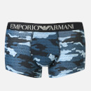 Emporio Armani Men's Trunk Boxer Shorts Blue L Blue