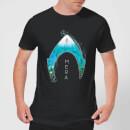 aquaman-mera-logo-herren-t-shirt-schwarz-l-schwarz