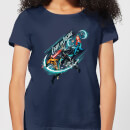 Camiseta DC Comics Aquaman Fight for Justice - Mujer - Azul marino - XL - azul marino azul marino XL