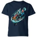 Camiseta DC Comics Aquaman Fight for Justice - Niño - Azul marino - 11-12 años - azul marino azul marino XL