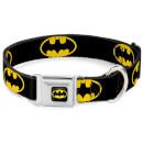 DC Comics Batman Shield Dog Collar (Various Sizes) - L/15-26 Inches L/15-26 Inches