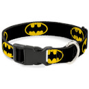 buckle-down-dc-comics-batman-shield-plastic-clip-dog-collar-various-sizes-s-13-18-inches