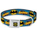 DC Comics Batman Vintage Dog Collar - Blue (Various Sizes) - L/18-32 Inches L/18-32 Inches