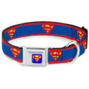 DC Comics Superman Dog Collar - Blue (Various Sizes) - S/9-15 Inches S/9-15 Inches