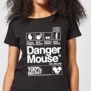 danger-mouse-100-secret-damen-t-shirt-schwarz-xxl-schwarz