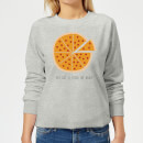 you-got-a-pizza-my-heart-women-s-sweatshirt-grey-l-grau