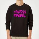 captain-marvel-spray-text-sweatshirt-black-xl-schwarz