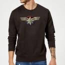 captain-marvel-chest-emblem-sweatshirt-black-xl-schwarz