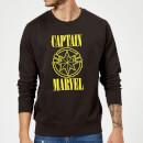 captain-marvel-grunge-logo-sweatshirt-black-xl-schwarz