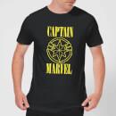 captain-marvel-grunge-logo-men-s-t-shirt-black-3xl-schwarz, 17.99 EUR @ sowaswillichauch-de