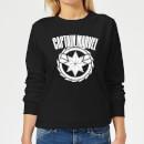 captain-marvel-logo-women-s-sweatshirt-black-xl-schwarz
