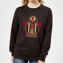 captain-marvel-flying-warrior-women-s-sweatshirt-black-xl-schwarz