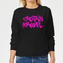 captain-marvel-spray-text-women-s-sweatshirt-black-xl-schwarz