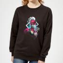 Marvel Captain Marvel Neon Warrior Women's Sweatshirt - Black - M - Negro Negro M