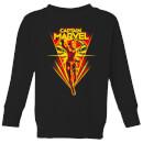 captain-marvel-freefall-kids-sweatshirt-black-11-12-jahre-schwarz