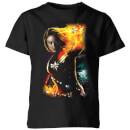 captain-marvel-galactic-shine-kids-t-shirt-black-9-10-jahre-schwarz