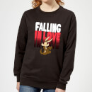looney-tunes-falling-in-love-wile-e-coyote-women-s-sweatshirt-black-xs-schwarz