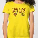 the-flintstones-club-life-women-s-t-shirt-yellow-m-gelb