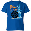 looney-tunes-acme-insta-hole-kids-t-shirt-royal-blue-11-12-jahre-royal-blue