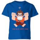 wreck-it-ralph-this-is-my-happy-face-kinder-t-shirt-blau-royal-3-4-jahre-royal-blue