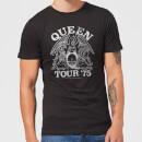 Camiseta Queen Tour '75 - Hombre - Negro - XXL - Negro Negro XXL