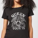 Camiseta Queen Tour '75 - Mujer - Negro - L - Negro Negro L