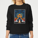 mr-pickles-retro-print-women-s-sweatshirt-black-m-schwarz