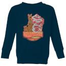 scooby-doo-munchies-kids-sweatshirt-navy-3-4-jahre-marineblau