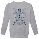 scooby-doo-coat-of-arms-kids-sweatshirt-grey-3-4-jahre-grau